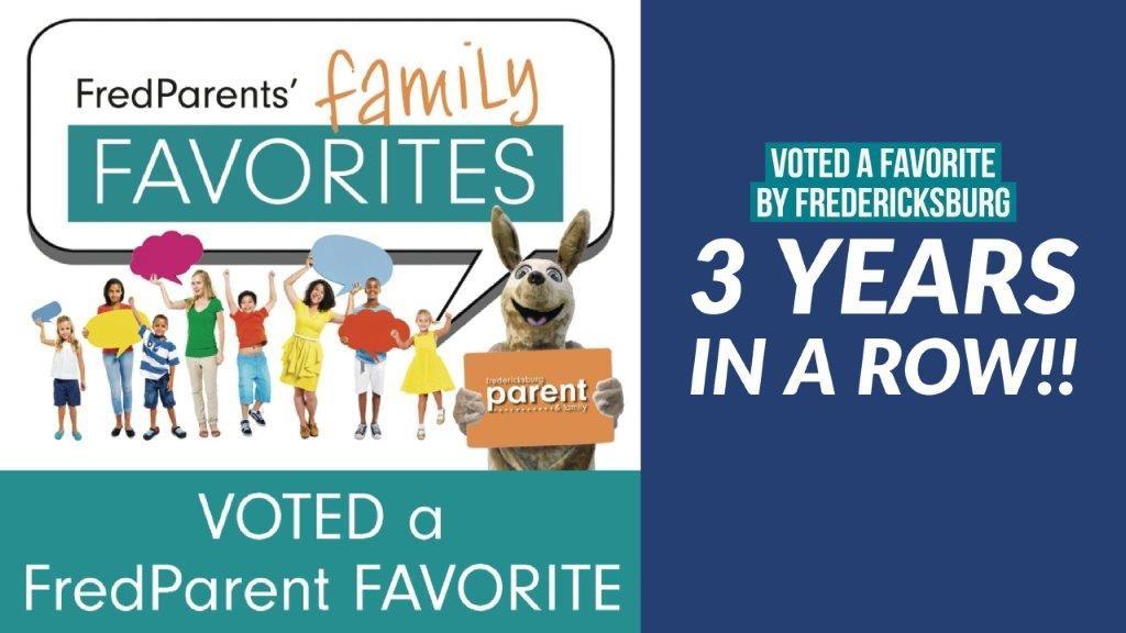 fredericksburg family favorite, voted, award