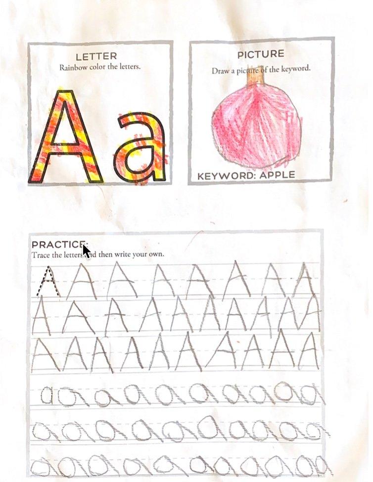 letter a practice worksheet